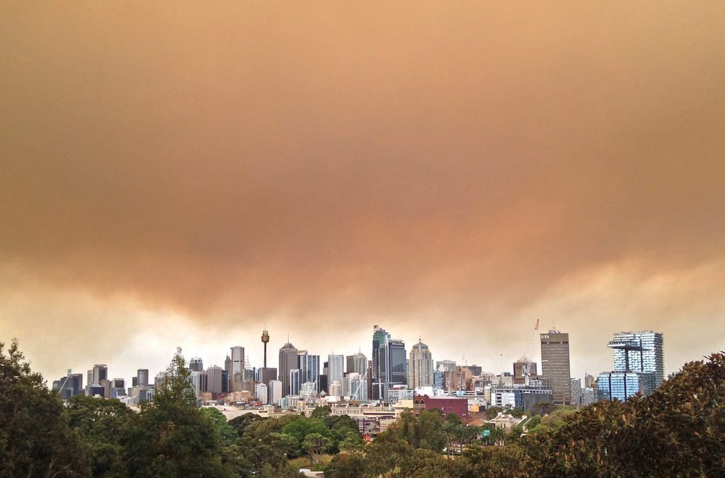 Bushfire smoke over Sydney