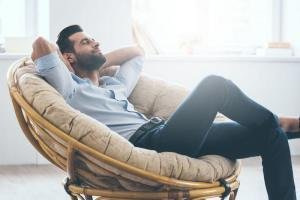 Man relaxed on chair